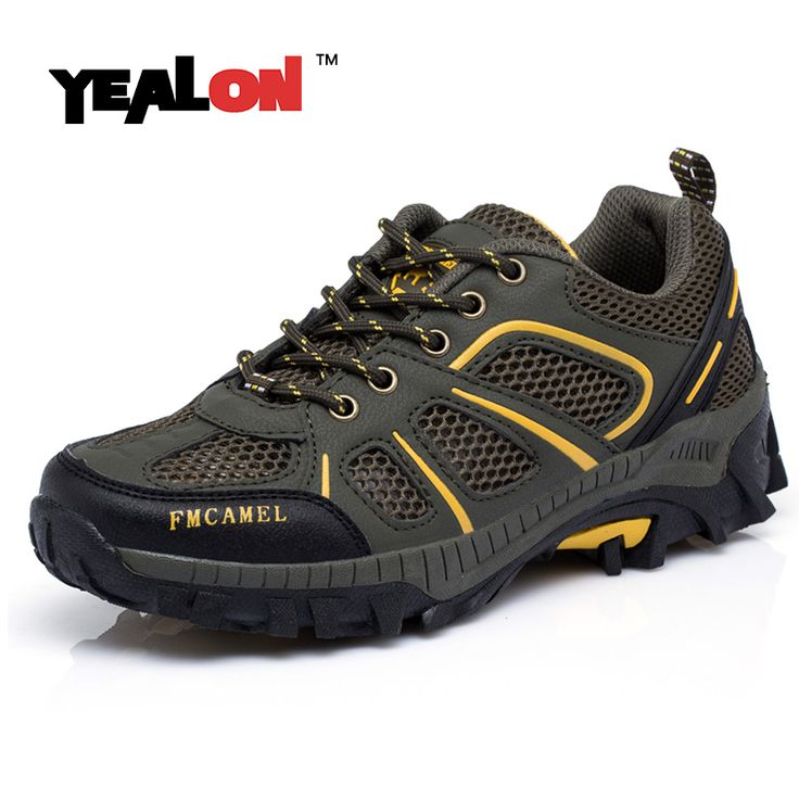 YEALON Outdoor Shoes Men Waterproof Sport Mountain Hiking Shoes Camel Climbing Boots Hiking Boots Zapatos Senderismo Hombre  #Affiliate