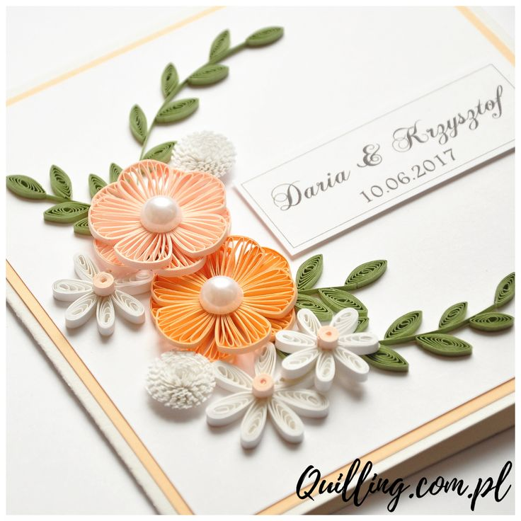 quilling, husking, DIY, handmade,greeting card, wedding, paperart, quilling.com.pl