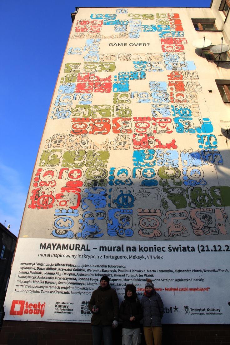 Mayamural, day 5, last. 16/18 Day 5, last. #maya #mural #cracow #2012 #graffiti #streetart Cracow, Poland.