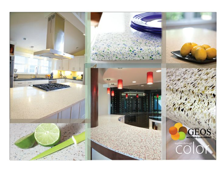 GEOS Recycled Glass Countertops And MORE!