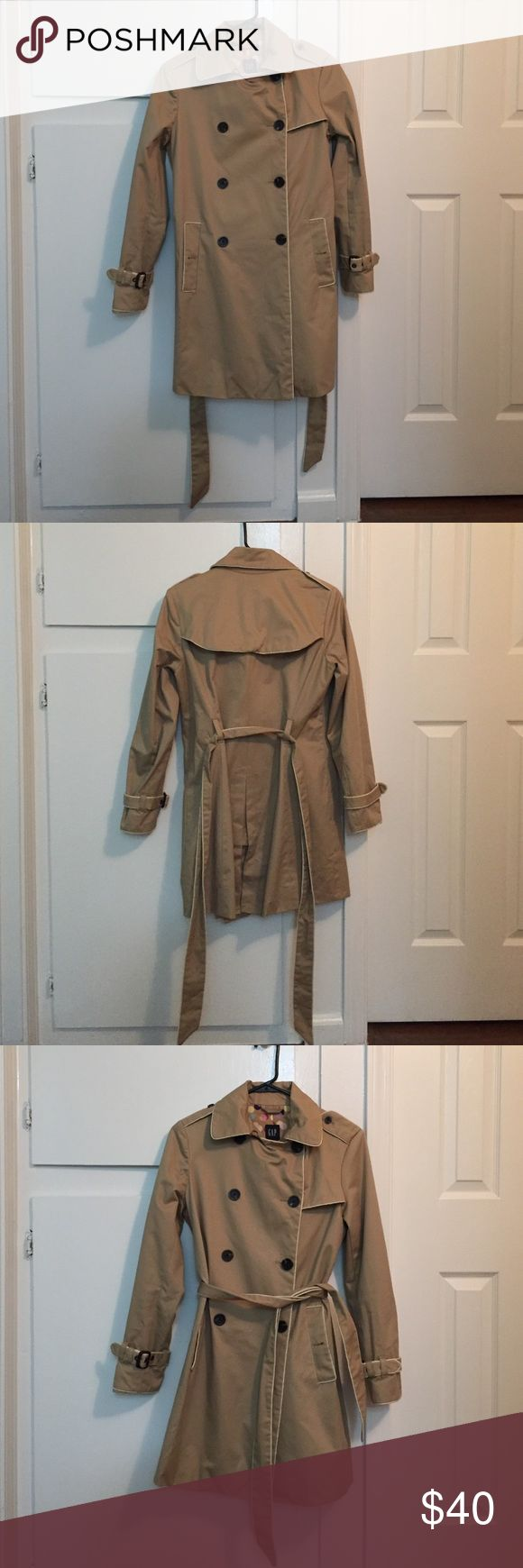 Gap Light Brown Trench Coat Gap trench coat in light brown with lining. Size: XS. Condition: like new. GAP Jackets & Coats Trench Coats