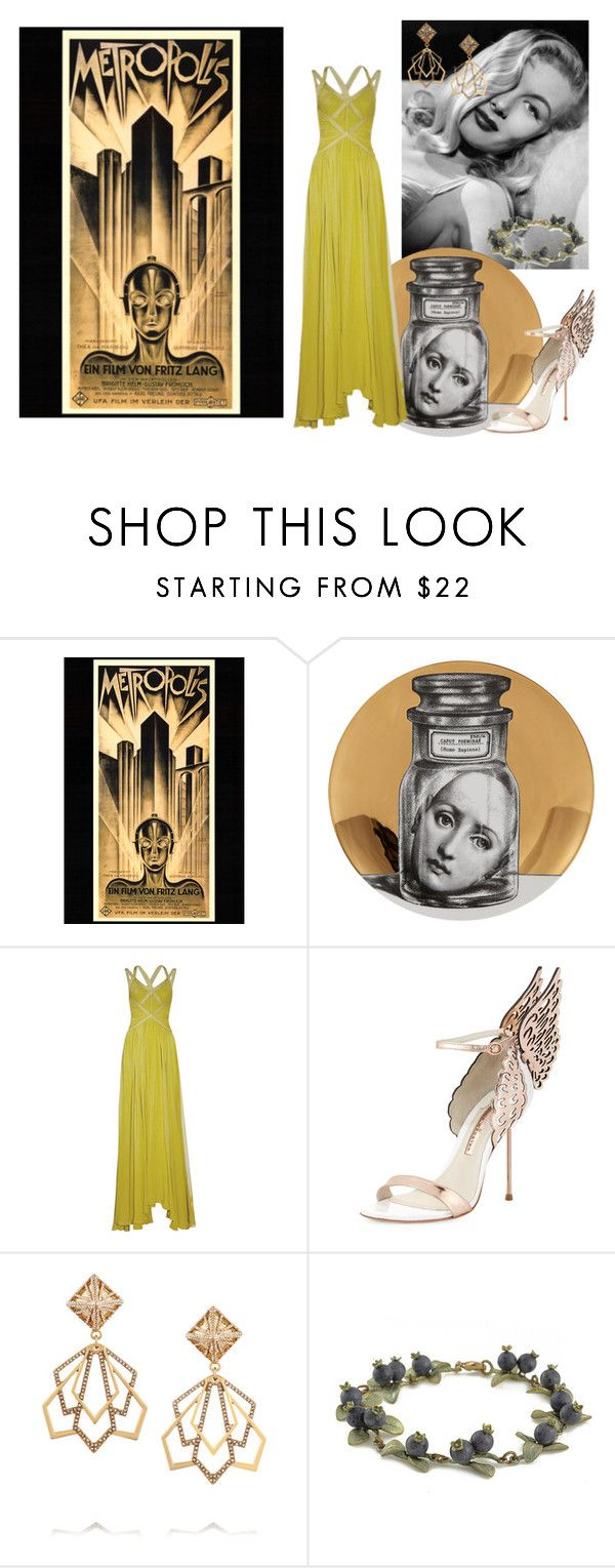"""""""Dead godess"""" by clararucula ❤ liked on Polyvore featuring Fornasetti, Posh Girl, Sophia Webster and Lulu Frost"""