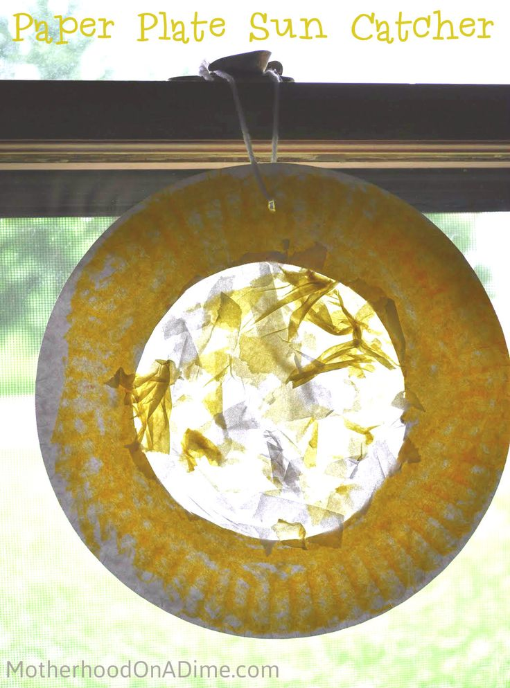 paper plate sun catcher - Motherhood on a Dime