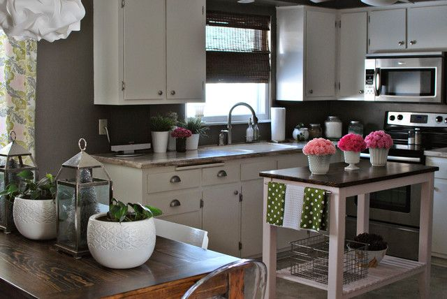 35 best kitchen paint ideas images on pinterest idea for White kitchen cabinets with gray walls