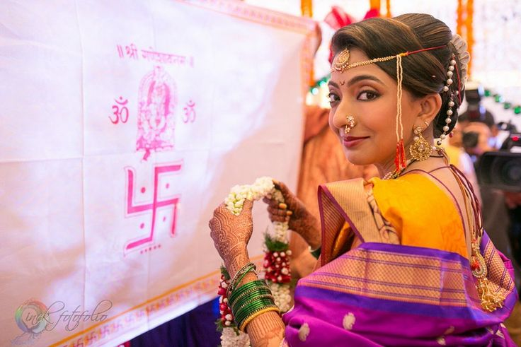Almost ready to be hitched. Anatarpat ceremony at Maharashtrian weddings.