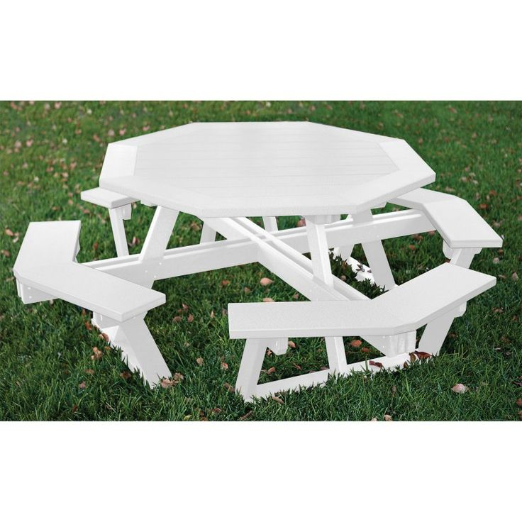 outdoor eagle one octagon all greenwood recycled plastic picnic table