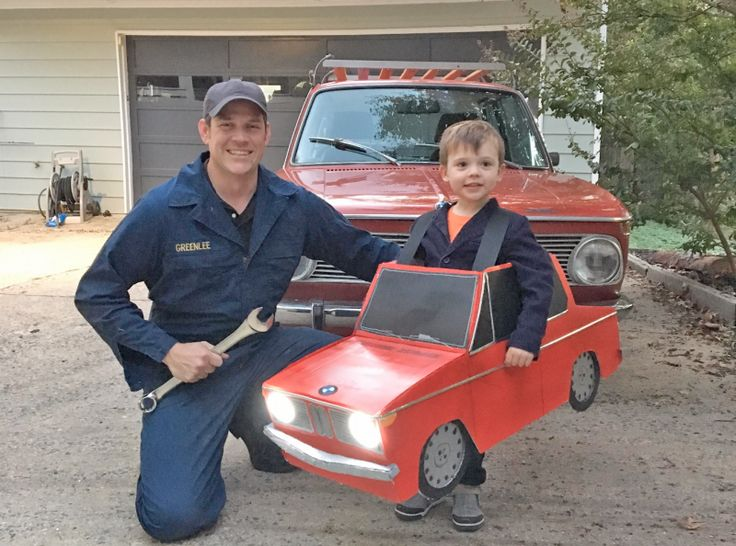 Dad Wins Car-Halloween With This Fantastic BMW Costume For His Kid