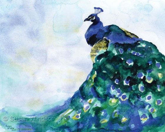 Best 25 watercolor peacock ideas on pinterest for Easy peacock paintings