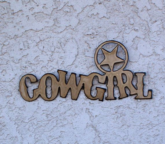 Western cowgirl signs