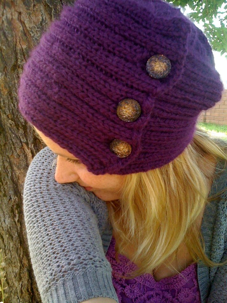 Free Knitting Pattern For Vintage Button And Rib Hat Hat