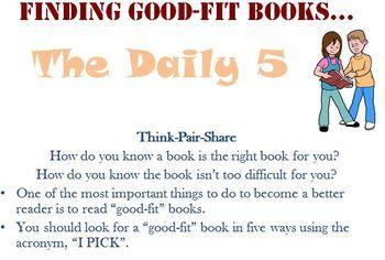 Here is a FREE Daily 5 Finding Good Fit Books Powerpoint that we use in our intermediate classroom.: Books Ppt, Books Powerpoint, Good Fit Books, Cafe Daily5, Daily5 Caf, Free Daily, Just Rights Books, Finding, Daily 5 Cafe