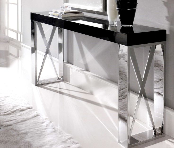 Taylor Llorente, Console Table In Mirror Poished Steel
