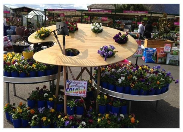 Awesome garden center display paint your garden with for Garden display ideas