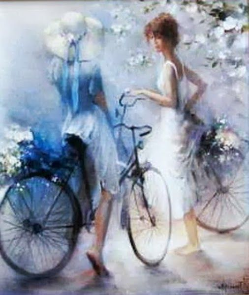 Willem Haenraets #bicycle #painting - For more great pics, follow www.bikeengines.com