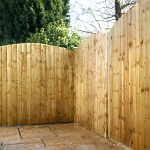 6ft x 6ft Pressure Treated Curved Feather Edge Fence Panel - Fence Supermarket