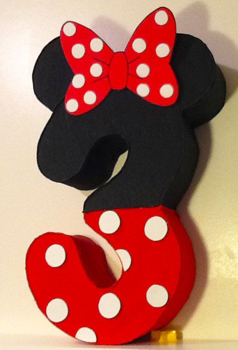 Minnie mouse Number Pinata minnie mouse Party by aldimyshop