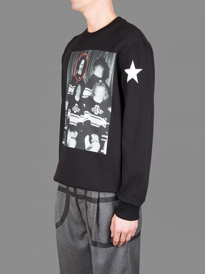 GIVENCHY COLUMBIAN FIT CREWNECK SWEATER WITH POM POM GIRL FRONT PICTURE