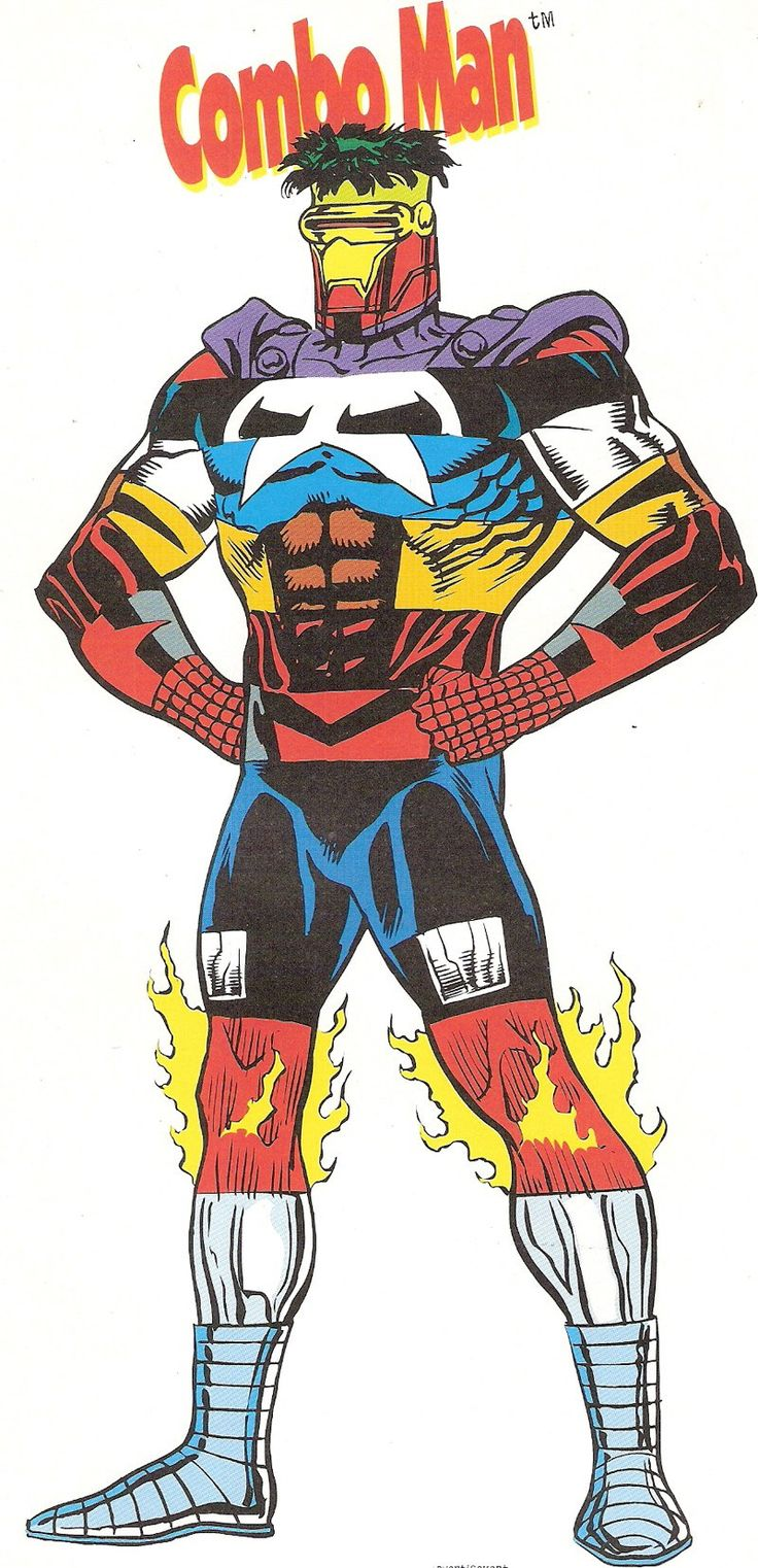 Behold Combo Man a Marvel superhero composed of 12 other
