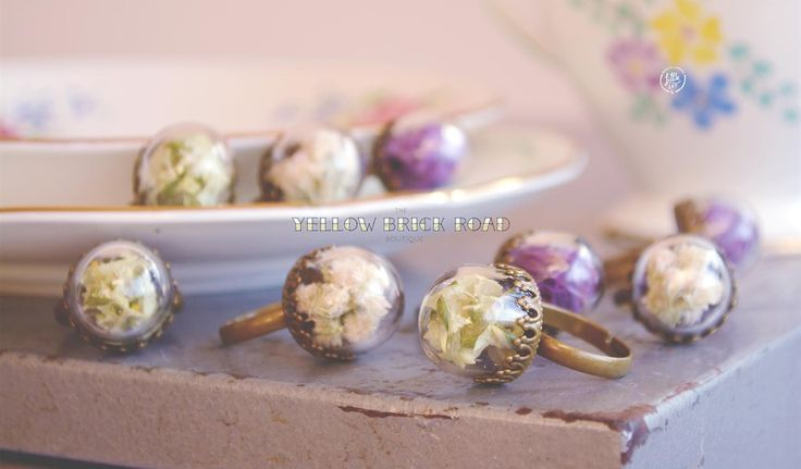 Little Lot   Dried Flower Terrarium Rings from The Yellow Brick Road