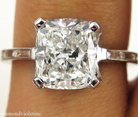 GIA 326 ct immobiliare cuscino Vintage diamante di DiamondViolet