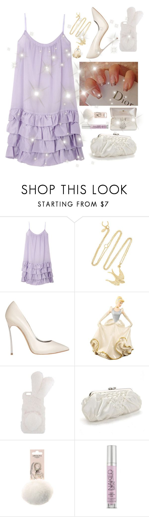 """ariana grande moonlight "" by faanciella on Polyvore featuring Giles & Brother, Casadei, Lenox, Carlo Fellini and Urban Decay"