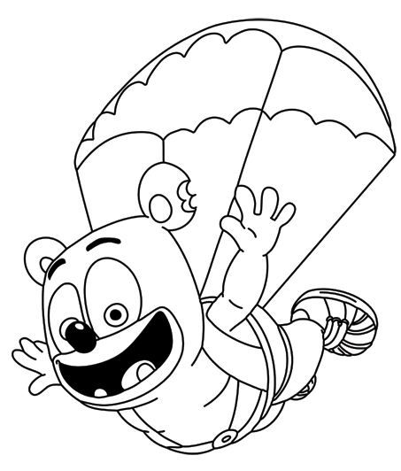 Gummy Bear Coloring Page Fly