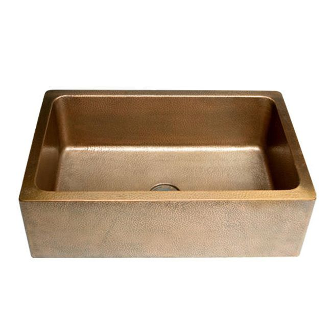 Farm Sink 30 Inch : Hammered copper sink. Overstock.com Mobile