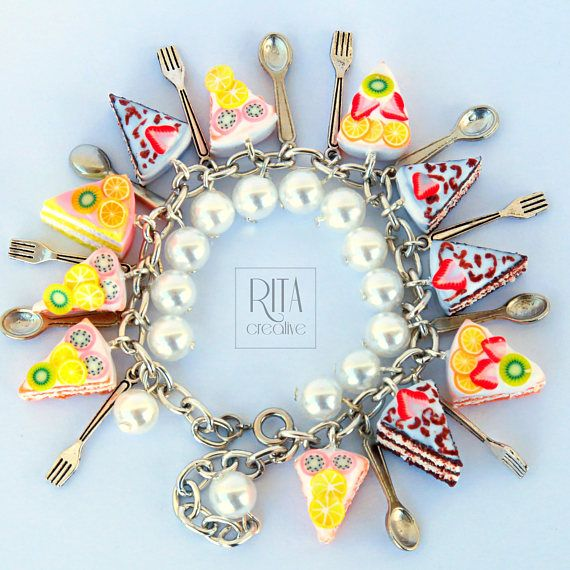 Sweet bracelet. mini sweet food in polymer clay.