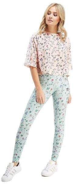 bc96a7f0f311 adidas Originals All Over Print Floral Leggings