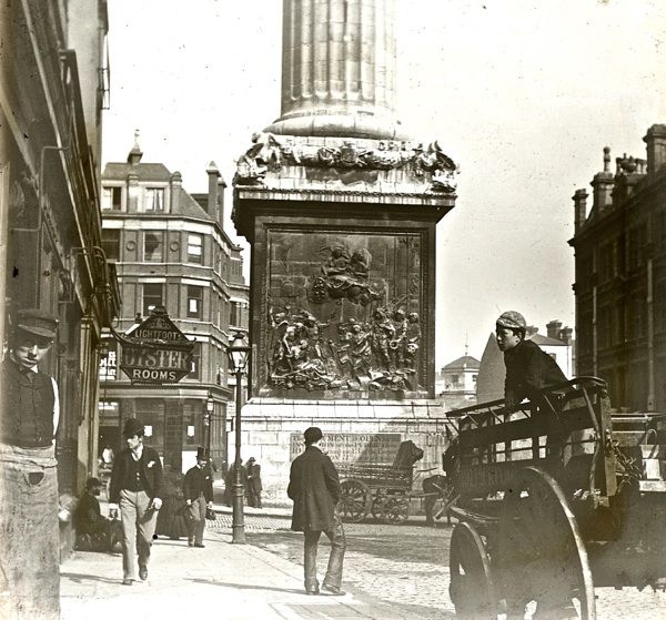 At the foot of the Monument, c. 1900