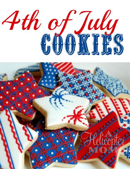 Great cookies for feeling Patriotic! 4th of July Cookies - Gorgeous! #Recipe #Tips