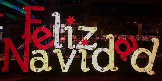 Letreros navideños de feliz navidad.
