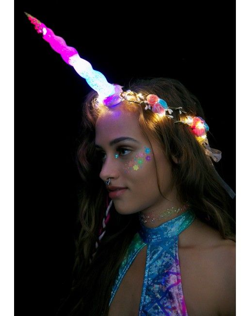 J Valentine Unicorn Queen Light-Up Flower Crown | Dolls Kill