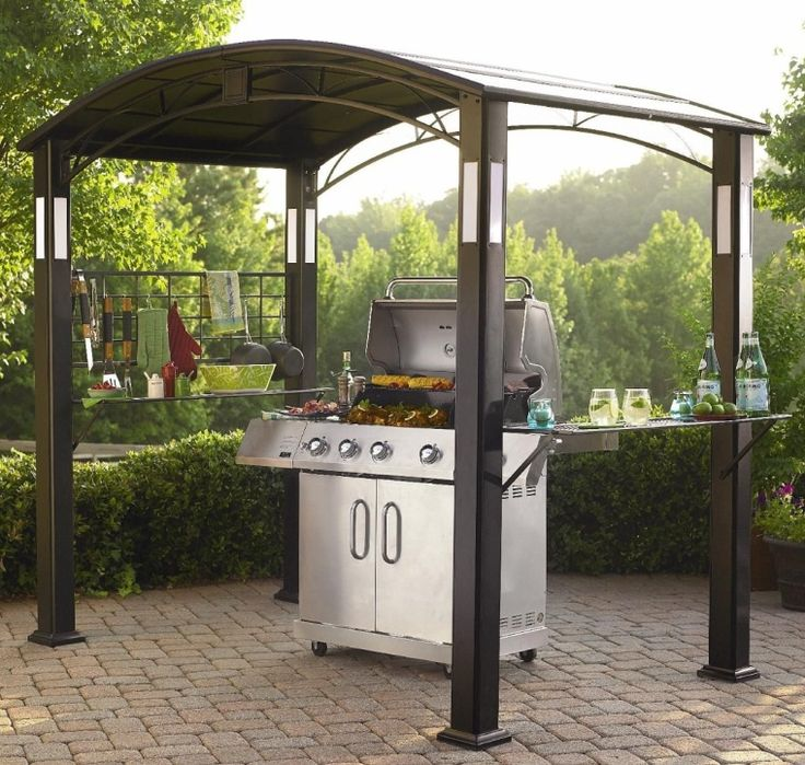 Grill Gazebo with Accent Lighting for Deck and Patio Grills Gift
