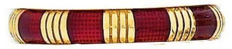 Red Enamel W Gold Bars Hidalgo Ring
