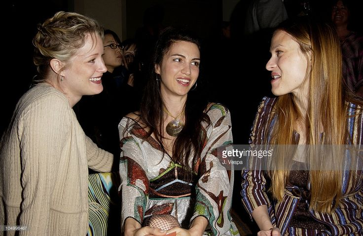 Teri Polo, Shiva Rose & Vinessa Shaw during Angela Missoni hosts Private Champagne Brunch and Preview of Special Evening Collection for Academy Awards Week at Chateau Marmont in West Hollywood, California, United States.