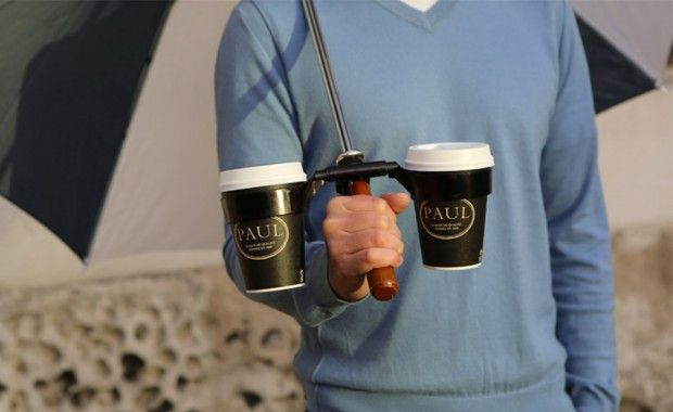 Amazing Inventions Umbrella with a Cup-Holder | www.piclectica.com #piclectica