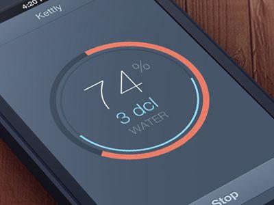 Kettly iPhone app concept by Jakub Antalik