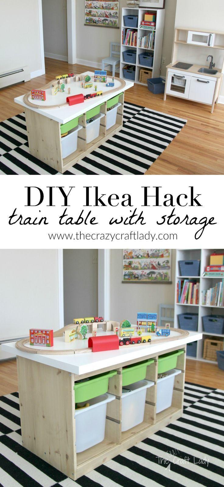 An Ikea Hack Train Activity Table Mit Bildern Kinder Zimmer