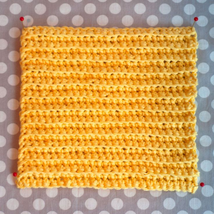 Aesthetic Nest: Crochet: Ribbed Washcloths (Tutorial)