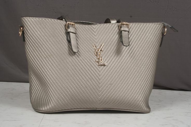 YSL Silver Tote Bag