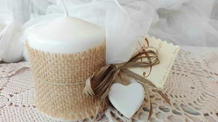 Candela profumata ,idea per bomboniera o confettata per ogni occasione..www.pbanchetti.info