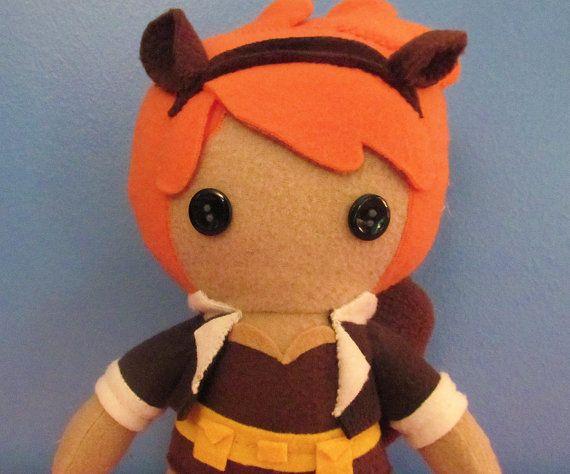 The Unbeatable Squirrel Girl (and Tippie Toe!) by flightydollies  https://www.etsy.com/listing/245684802/squirrel-girl-fleece-plush-doll