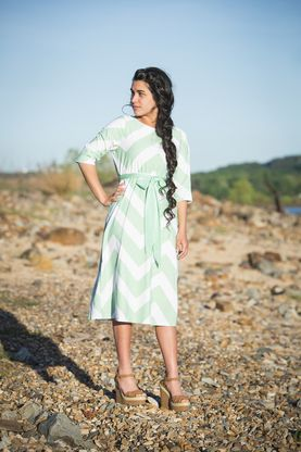 Mint Chevron modest Swimdress - Dainty Jewell's How perfect is this for summer?!?! Purchase at daintyjewells.com
