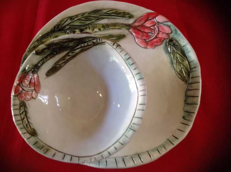 Plate and bowl - protea range available in various sizes