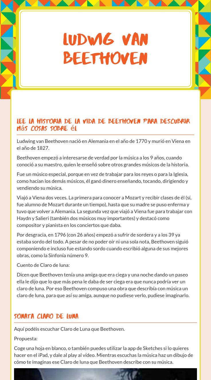 me free interactive Beethoven, Msica, historia, blended worksheet - Ludwig  Van Beethoven by teacher Ana Pallares