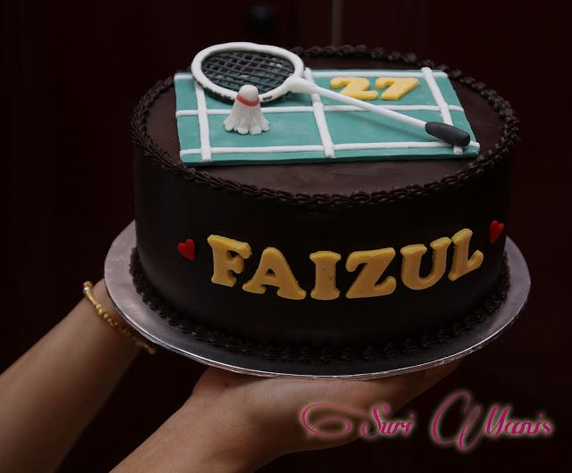 Suri Manis: Sweet 'Badminton' Cake | General Cake Ideas in 2019 | Cake, Sport cakes, Easy cake ...