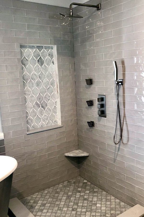 59 New Trend And Best Tile Bathroom Designs In 2020 Part 37 Bathroom Shower Tile Shower Tile Pretty Bathrooms