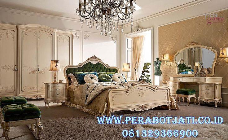 Jual Set Kamar Klasik Desain Ranjang Tidur Elegan French Style | Desain Kamar Tidur Classic Luxury