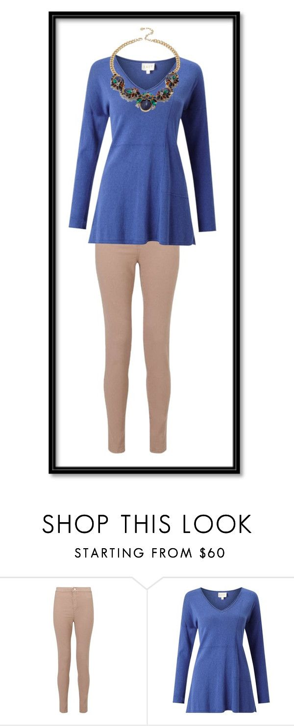 """""""Blue & Tan"""" by sr77 ❤ liked on Polyvore featuring Miss Selfridge, EAST and Talbots"""